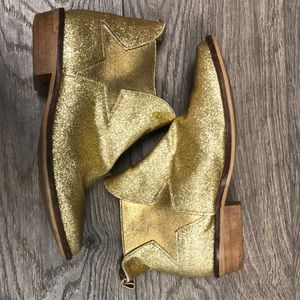 Stella McCartney Gold Sparkle Boots